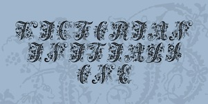 Victorian Initials One illustration 1