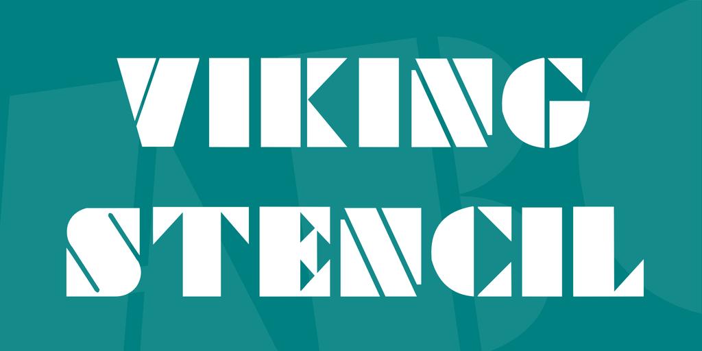 Viking Stencil illustration 2
