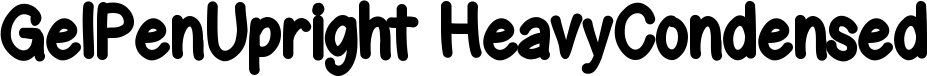GelPenUpright HeavyCondensed